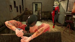 Harley Quinn in action