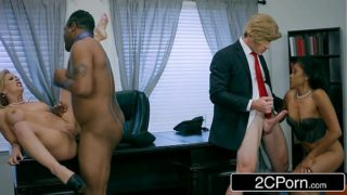 Post-Election White House Oval Cabinet Orgy – Cherie Deville, Yasmine de Leon
