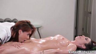 Lesbian massage sex with Serena Blair and Ayumi Anime