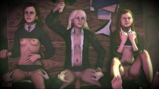 Group sex at Hogwarts from the world of Harry Potter: Ginny Weasley, Luna Lovegood, Hermione Granger – porn-chat.space