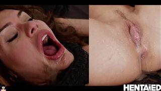 QUADRO PENETRATION   Tentacle monster fuck hot brunette   Kitana Lure
